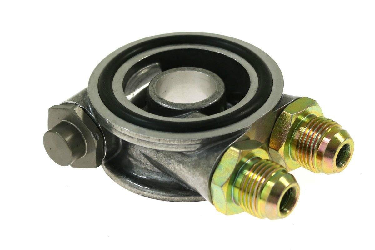 Podstawka pod filtr oleju 3/4UNF z termostatem - GRUBYGARAGE - Sklep Tuningowy